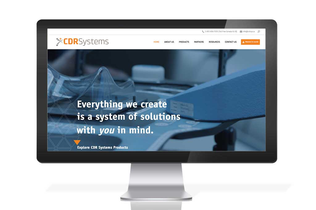 HDS portfolio cdr systems website design